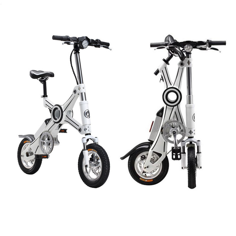 Adult Foldable Electric Scooter , folding electric bike with Pedal and Seat