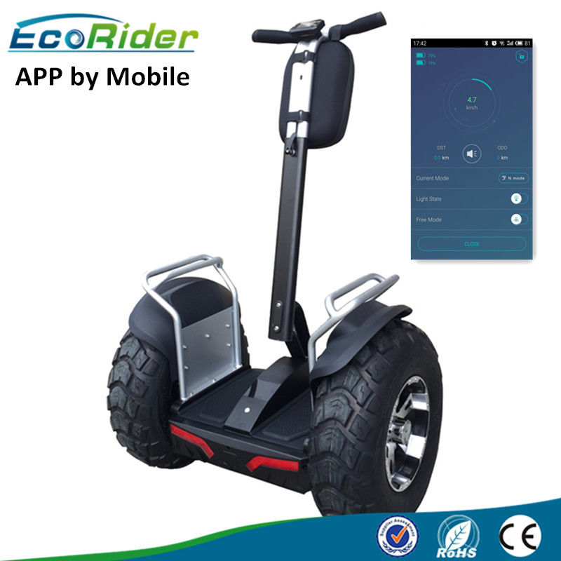 APP controlled Mobile 4000W segway human transporter samsung 72 V battery , two wheeled