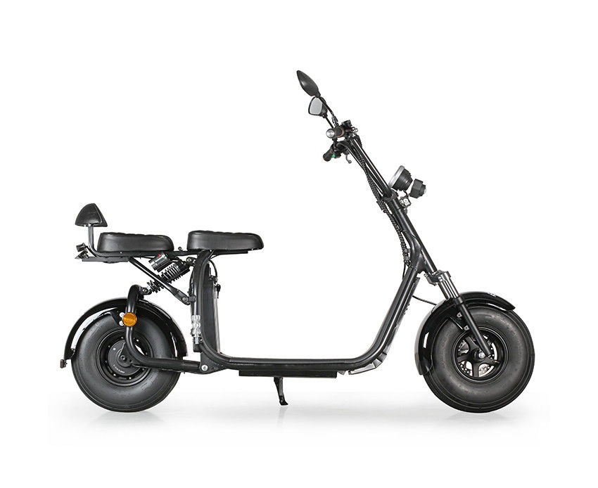 Led Light Double Seat 2 Wheel Electric Scooter Bike With Disc Brake
